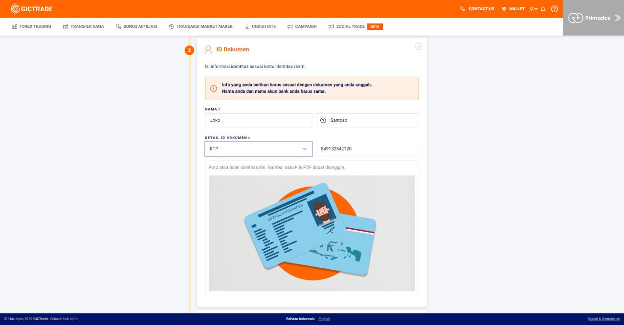 Form ID Card KYC