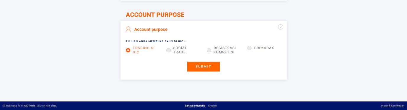 Form Account Purpose