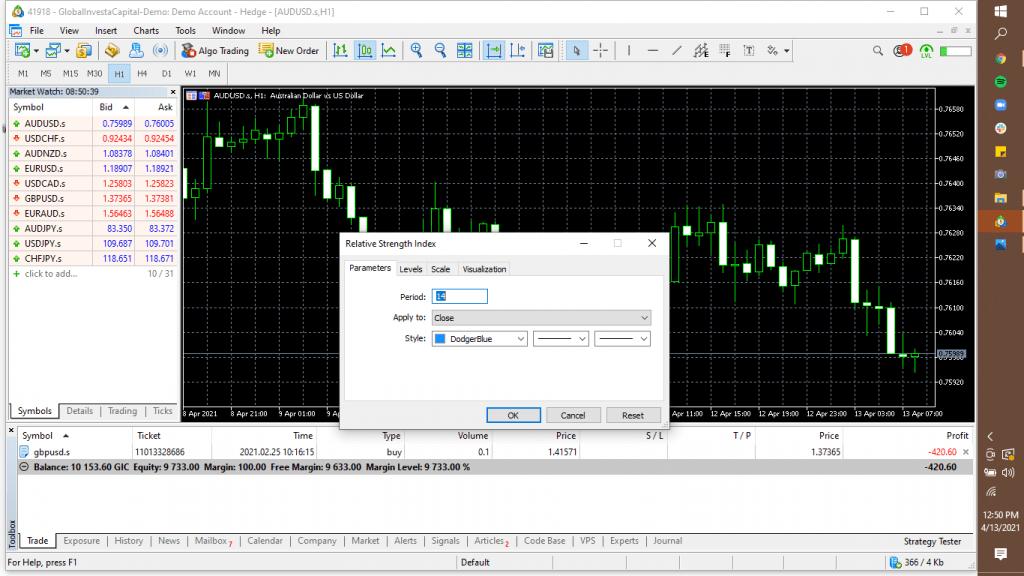 Cara Setting Indikator RSI